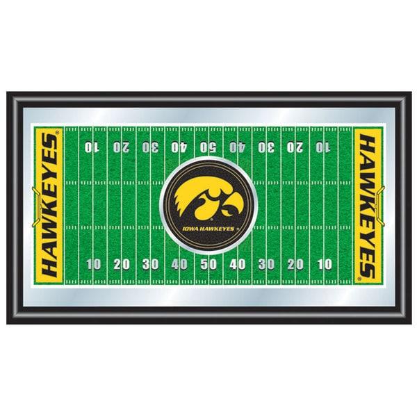 University of Iowa Football Field Framed Mirror