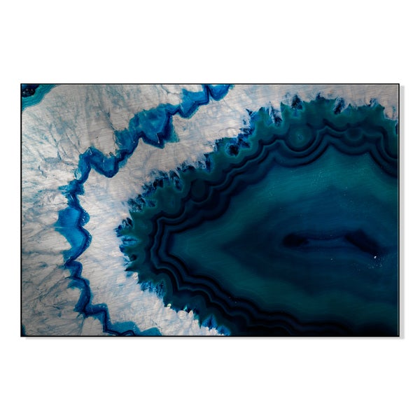 Gallery Direct Blue Brazilian Geode Print On Metal Wall