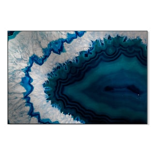 Gallery Direct Blue Brazilian Geode Print on Metal Wall Art