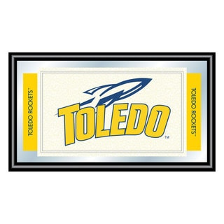 University of Toledo Logo and Mascot Framed Mirror