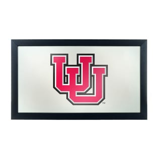 University of Utah Logo and Mascot Framed Mirror