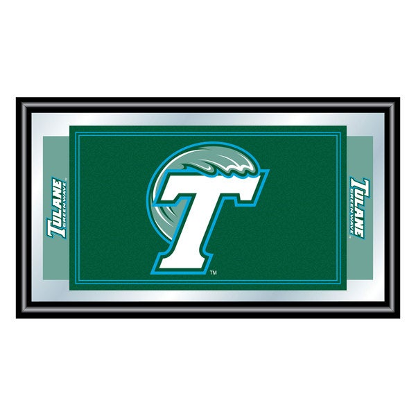Tulane University Logo and Mascot Framed Mirror