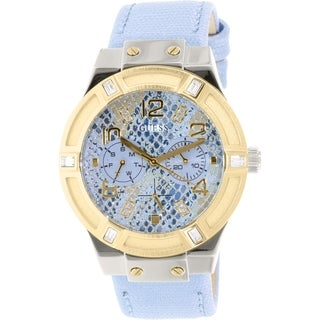 Guess Women's U0289L2 Blue Leather Quartz Watch