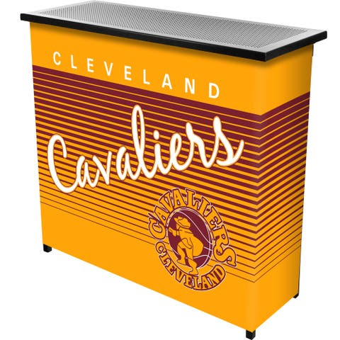 Cleveland Cavaliers Hardwood Classics NBA Portable Bar w/Case - Brown