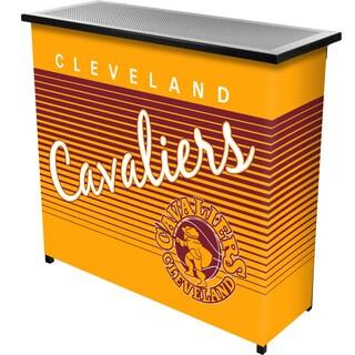 Cleveland Cavaliers Hardwood Classics NBA Portable Bar w/Case - Brown