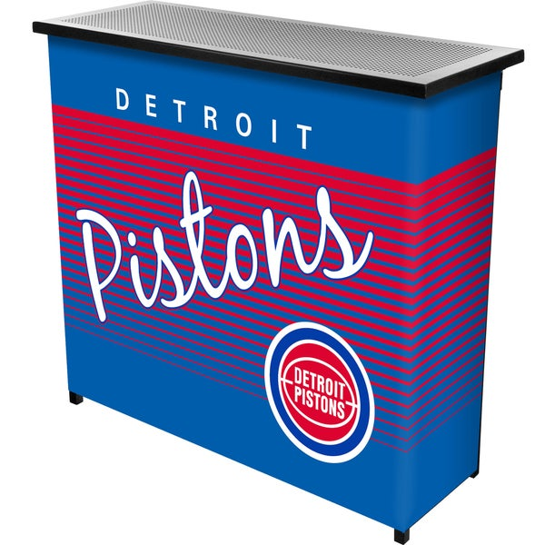 Detroit Pistons Hardwood Classics NBA Portable Bar w/Case