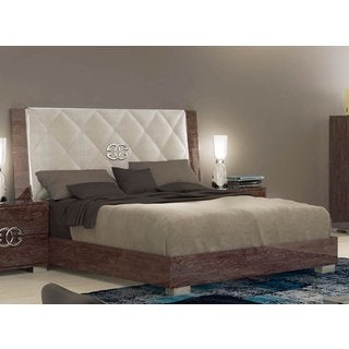 Luca Home High Gloss Platform Bed