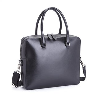 Royce Leather RFID Blocking Executive Travel Briefcase in Saffiano Genuine Leather