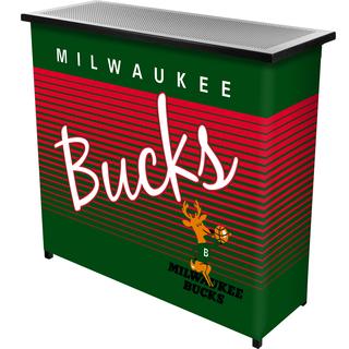 Milwaukee Bucks Hardwood Classics NBA Portable Bar w/Case