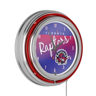 Toronto Raptors Hardwood Classics NBA Chrome Neon Clock