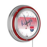 Sacramento Kings Hardwood Classics NBA Chrome Neon Clock