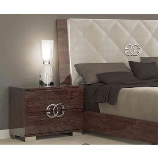 Luca Home Cognac Nightstand