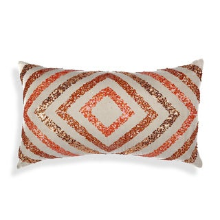 A1 Home Cotton Flex Geometric Sequinwork Throw Pillow