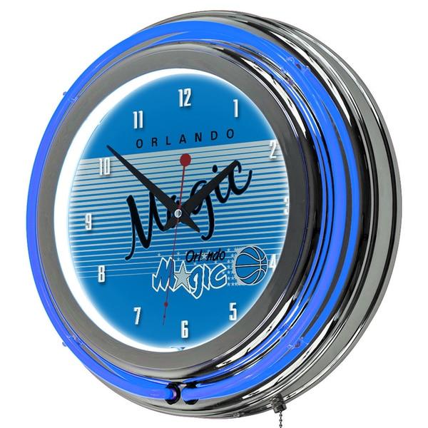 Orlando Magic Hardwood Classics NBA Chrome Neon Clock
