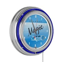 Orlando Magic Hardwood Classics NBA Chrome Neon Clock