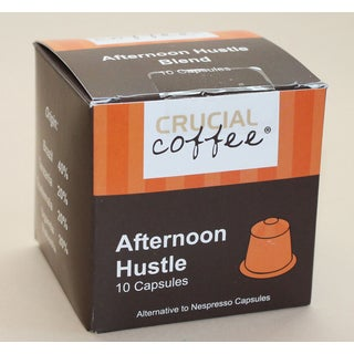 The Afternoon Hustle Replacement Coffee Capsules for Use in Most Nespresso Machines (10 capsules)