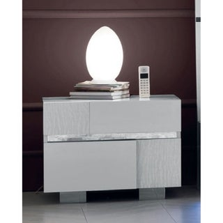 Luca Home Crocodile Accent Nightstand