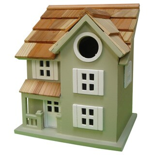 Townhouse Small Finch Green Birdhouse