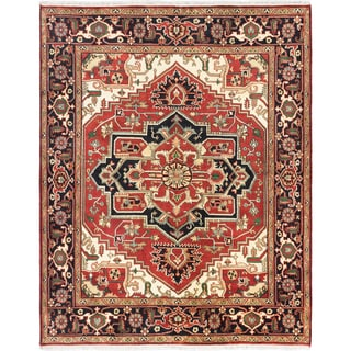Hand-knotted Serapi Heritage Copper Wool Rug - 7'11 x 9'10