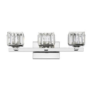 Chloe Contemporary 3-light Chrome Bath/ Vanity Light