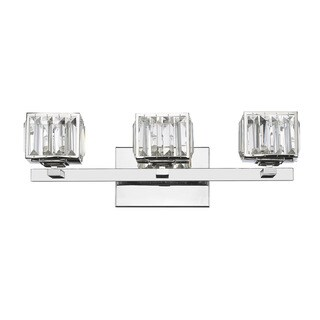 Silver Orchid Douglas 3-light Chrome Bath/ Vanity Light