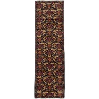ecarpetgallery Teimani Beige, Blue Wool Rug (2'9 x 9'0)