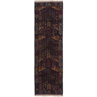 ecarpetgallery Tora Bora Blue  Wool Rug (2'9 x 9'0)