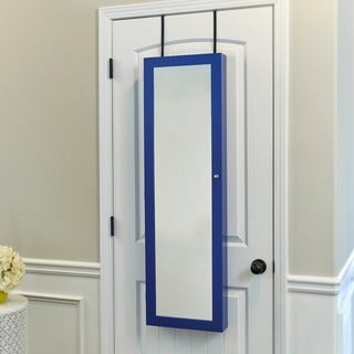 InnerSpace Over-the-Door/Wall-Hang Mirrored Jewelry Armoire