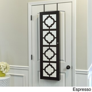 InnerSpace Wall-hang Jewelry Armoire with Decorative Mirrored Front (2 options available)