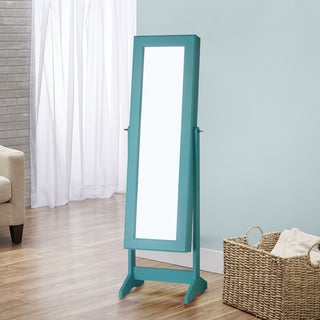 InnerSpace Cheval Free-standing Mirrored Jewelry Armoire