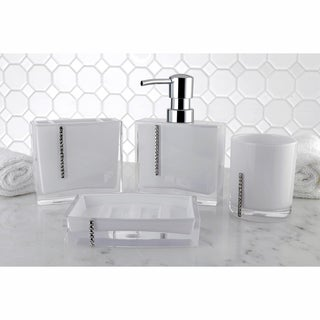 Crystal White 4-piece Bath Accessory Set
