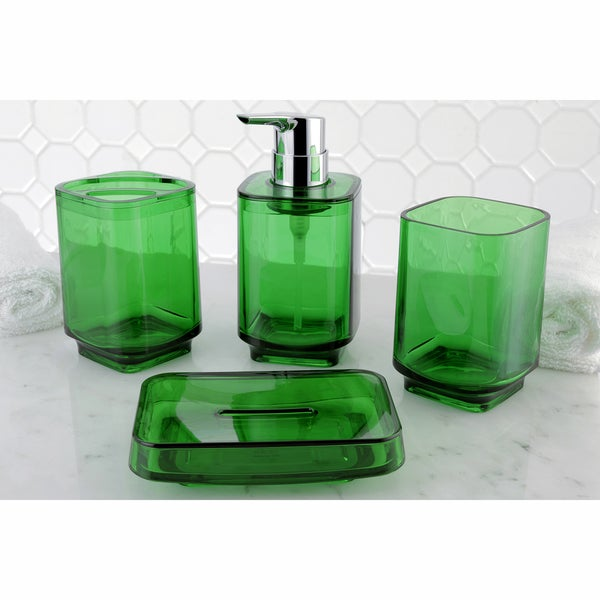 Green 4-Piece Bath Accessory Set
