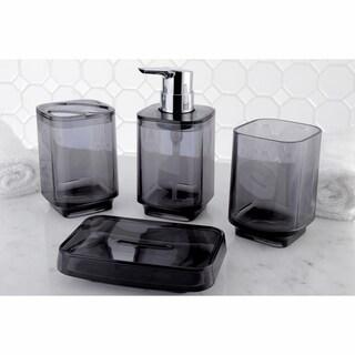 Black 4-Piece Bath Accessory Set