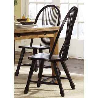 Treasures Rustic Black Sheaf Back Dining Chair