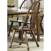 Treasures Rustic Oak Sheaf Back Dining Chair