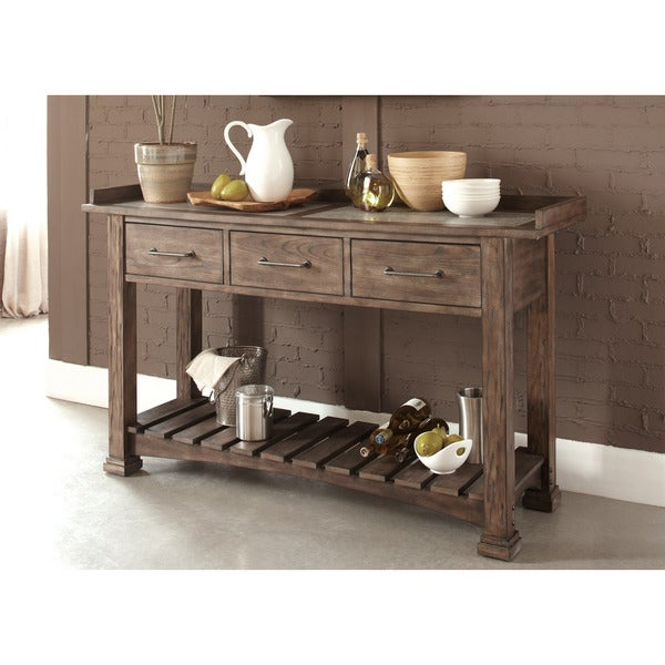 Stoney Brook Rustic Saddle Server
