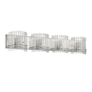 Chloe Contemporary 4-light Chrome Bath/ Vanity Light