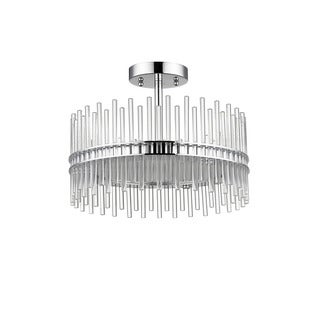Chloe Contemporary 3-light Chrome Semi-Flush Mount