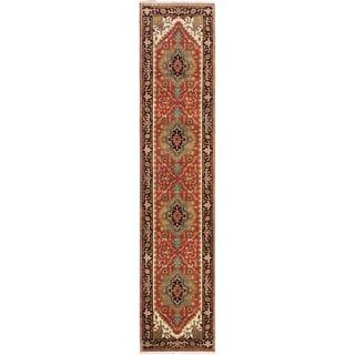 ecarpetgallery Serapi Heritage Brown Wool Rug (2'6 x 11'9)