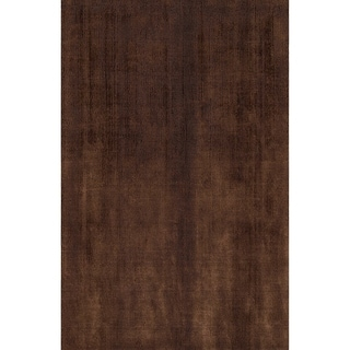LYKE Home Handmade Chocolate Area Rug (5' x 7') - 5'3 x 7'