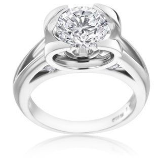 SummerRose Platinum 1 7/8ct TDW Unique Diamond Engagement Ring (D-E, SI2)