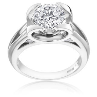 SummerRose Platinum 1 7/8ct TDW Unique Diamond Engagement Ring