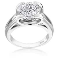 SummerRose Platinum 1 7/8ct TDW Unique Diamond Engagement Ring