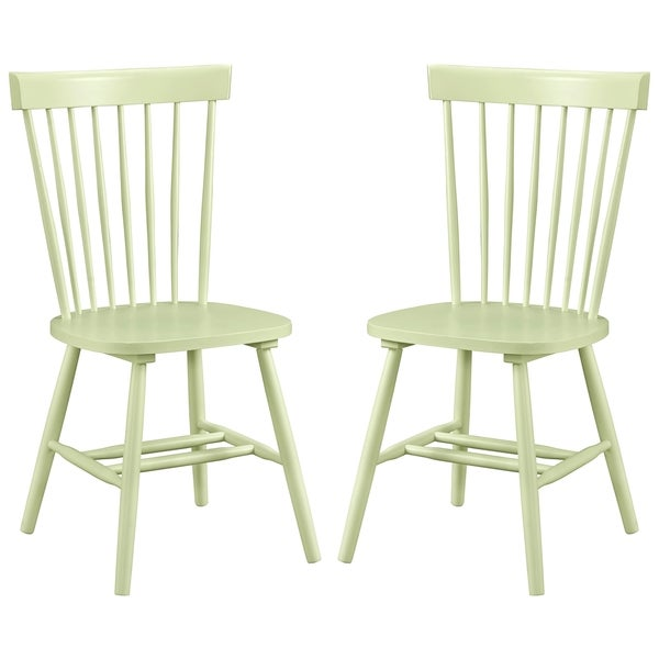 Dunner Danish Design Spindle Back Mint Green Dining Chairs Set Of 2 Free Shipping Today