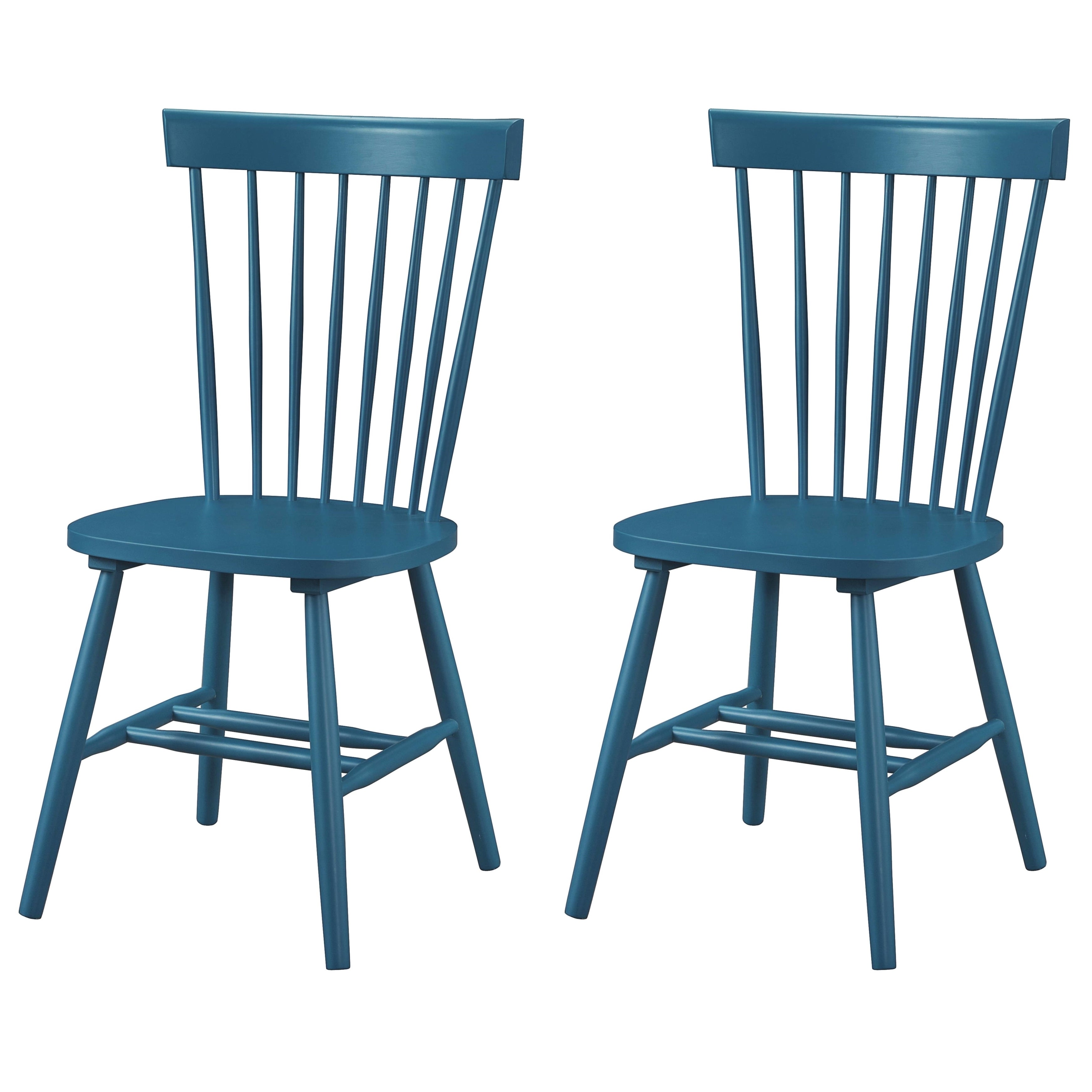 Picture of: Dunner Danish Design Spindle Back Blue Teal Dining Chairs Set Of 2 Overstock 10650182