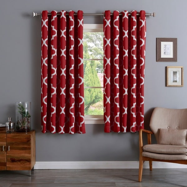 Shop Aurora Home Moroccan Tile Room Darkening Curtain