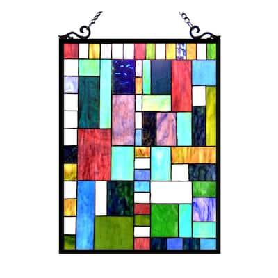 Chloe Tiffany Style Art Deco Design Window Panel/ Suncatcher