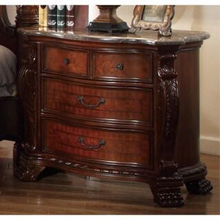 Meridian Cherry Finish Luxor Solid Wood Nightstand