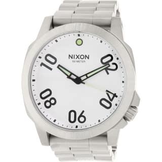 Nixon Men's Ranger 45 A521130 Stainless Steel Quartz Watch|https://ak1.ostkcdn.com/images/products/10650226/P17717165.jpg?impolicy=medium
