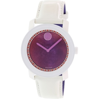 Movado Women's Bold 3600269 White Leather Swiss Quartz Watch